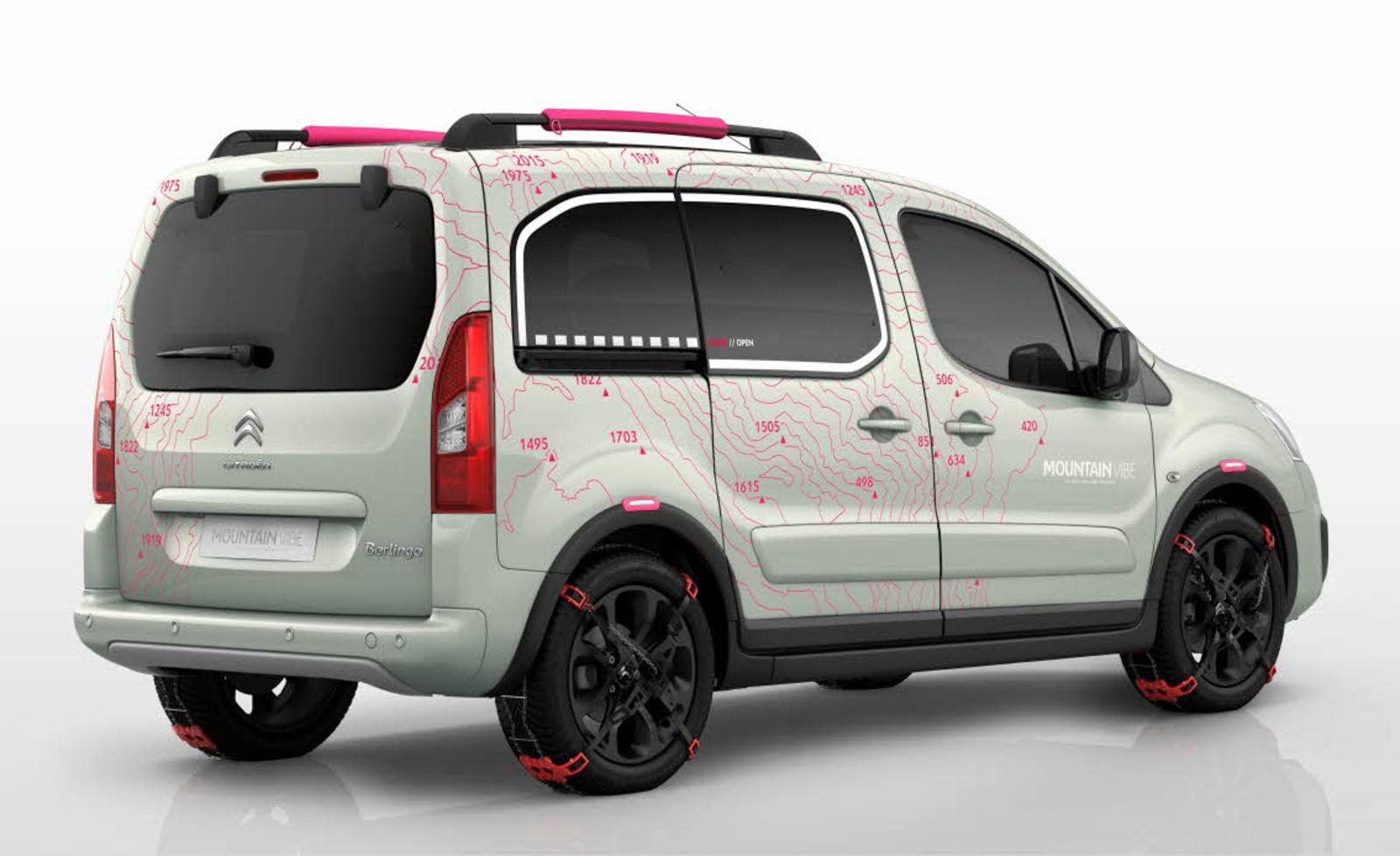 Berlingo Mountain Vibe 2015 rear 3/4