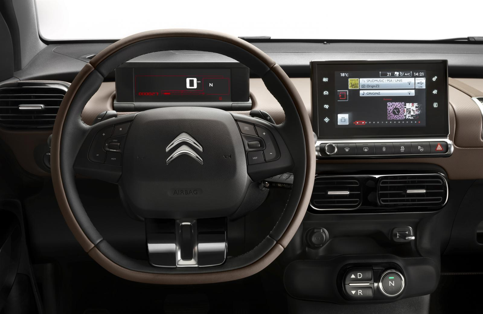 C4 Cactus Shine edition 2014 steering wheel